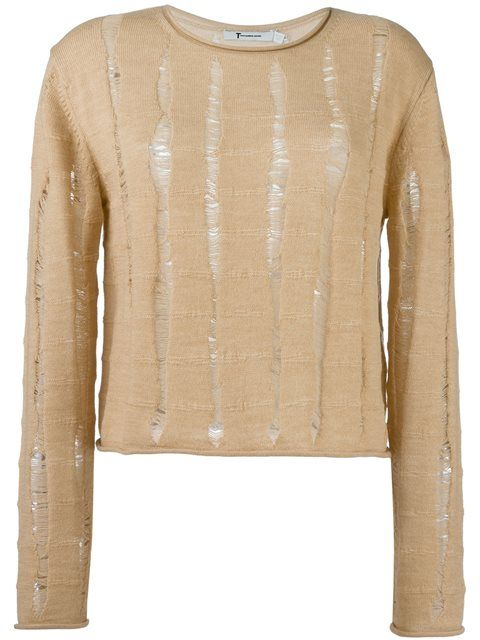 T BY ALEXANDER WANG Distressed Jumper. #tbyalexanderwang #cloth #jumper