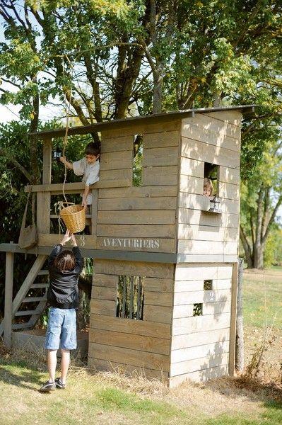 Cabane de jardin pour les enfants deco exter jardin pinterest cabane jardin enfant jardin - Construire cabane jardin ...