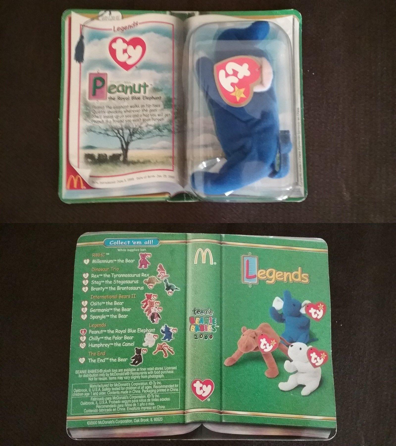 8b838a67584 Teenie Beanies 441  1998 Ty Teenie Beanie Baby - Peanut The Royal Blue  Elephant Nib