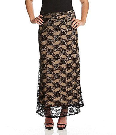 Karen Kane Woman Lace Maxi Skirt #Dillards