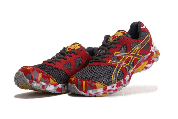 asics gel noosa tri 7 men's grey red yellow - womens asics gel noosa tri 7 red grey