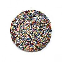 Lecons de choses - Crochet Balls Rug - My Little Square
