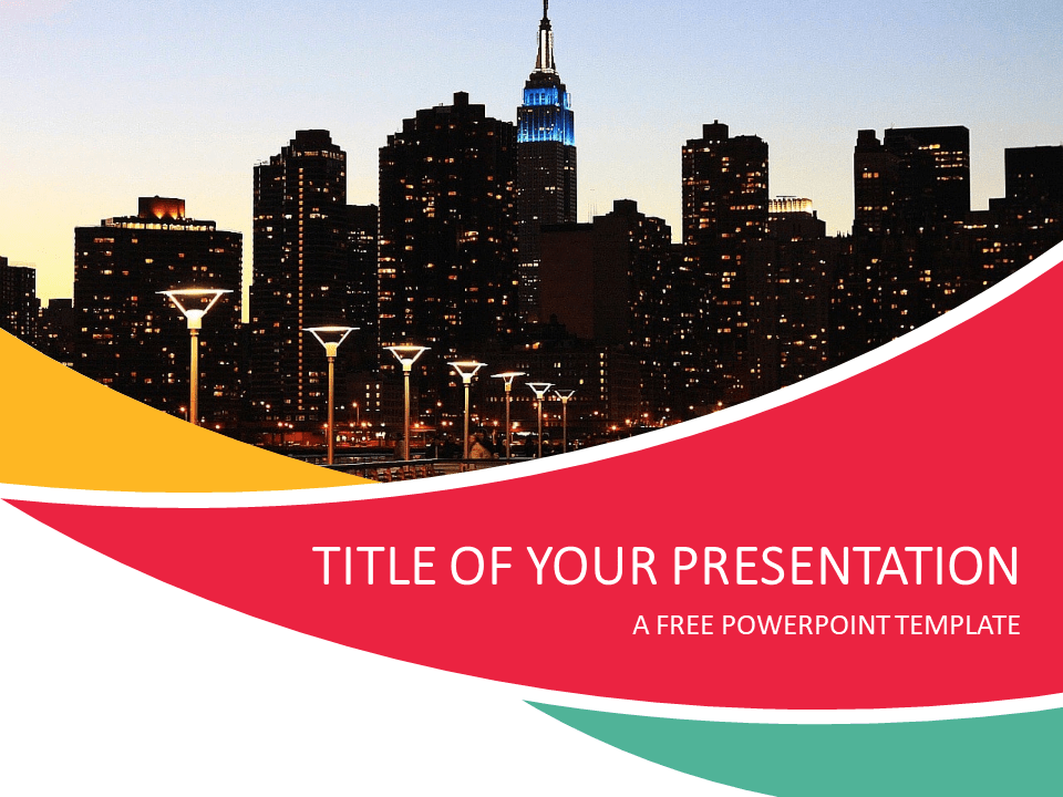 City Powerpoint Template Presentationgo Com Free Ppt