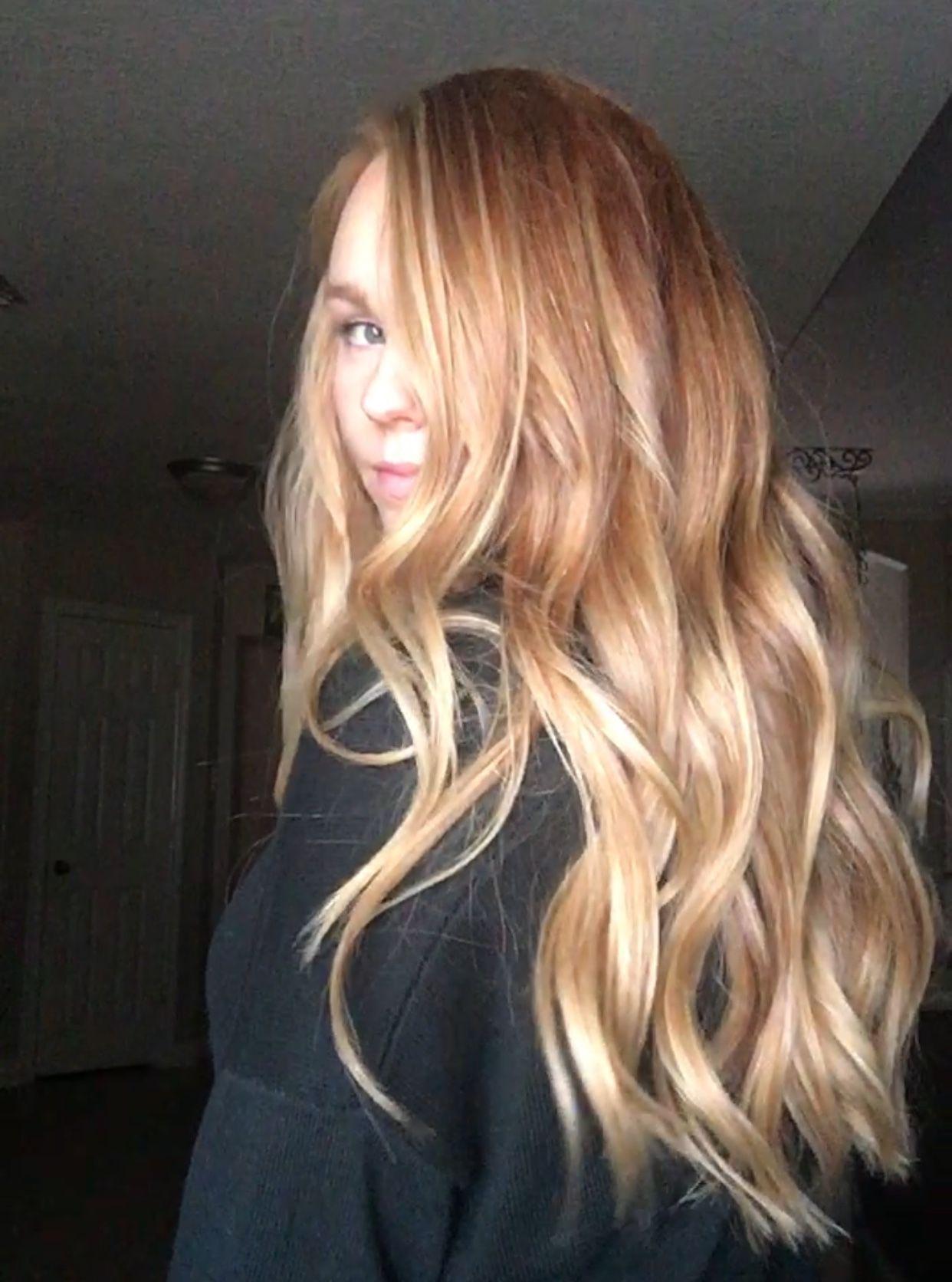 Natural Red W Blonde Balyage Balyage Blonde Natural Red In 2020 Red Blonde Hair Natural Red Hair Hair Highlights