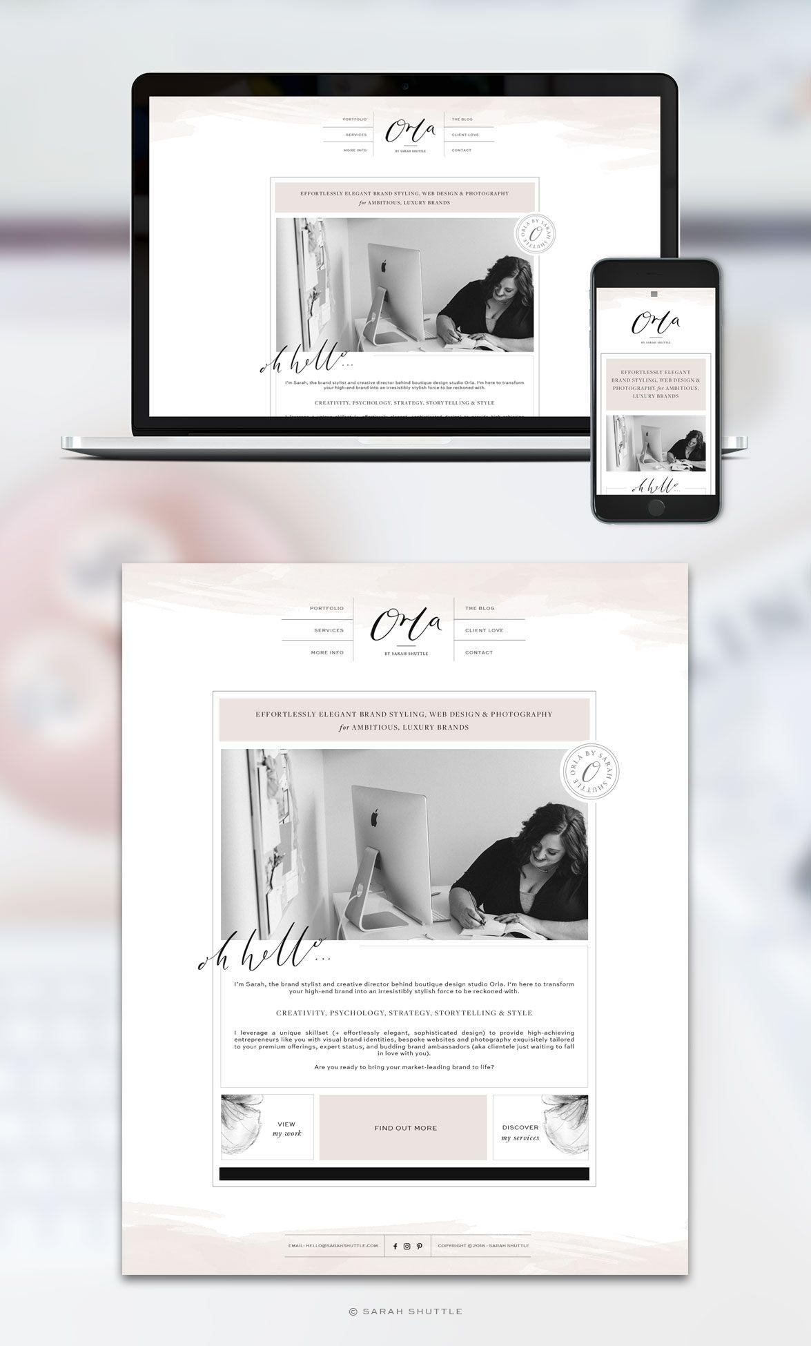 Business Branding Brand Styling Website Design For Female Entrepreneurs Romantic Website Design Feminine Website Design Blog Website Design
