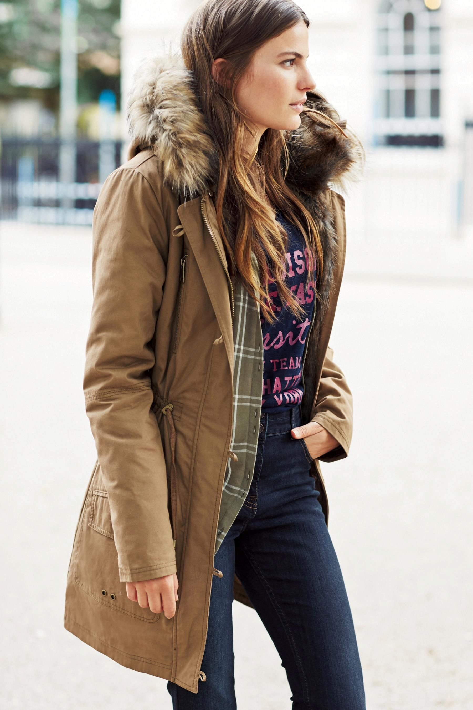 Buy Faux Fur Lined Parka from the Next UK online shop   Clobber ...