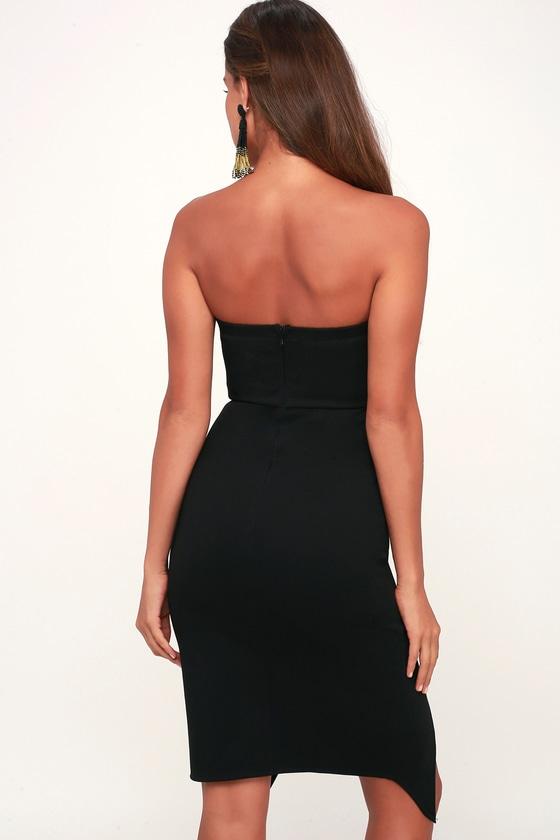 Jazzie Black Strapless Bodycon Dress Bodycon Dress