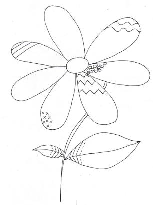 Fleur graphisme 3 ecriture pinterest - Le printemps gs ...
