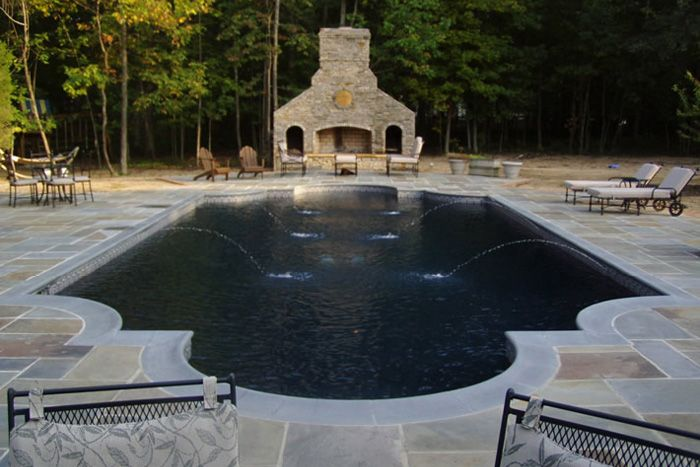 With Stone Fireplace   Richmond, Virginiau0027s Best In Custom Pools And  Outdoor Furniture: JoPa