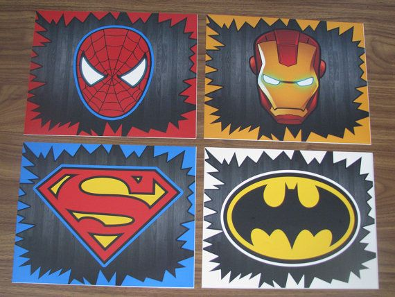 Pin de katline cure en kid 39 s bedroom chambre super heros deco enfant y d coration geek - Deco chambre super heros ...