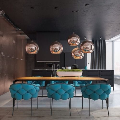 Fingoapp:Copper And Turquoise. #livingroom #interior #decor... (