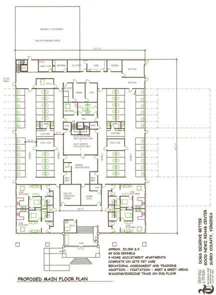 Pet kennel floor plans floor matttroy Dog kennel layouts