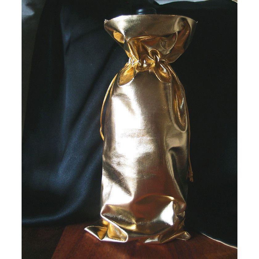 Metallic Lamé Wine Bottle Wrap, 15-inch, 10-pack