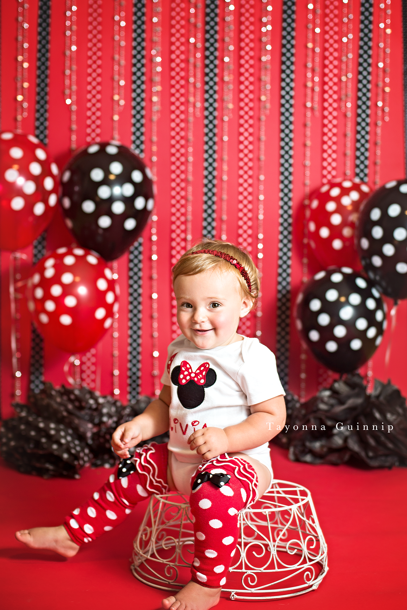 Minnie Mouse First Birthday Cake Smash Red Amp Black