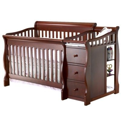 Sorelle Tuscany Cherry 4 In 1 Crib Target Black Baby Cribs