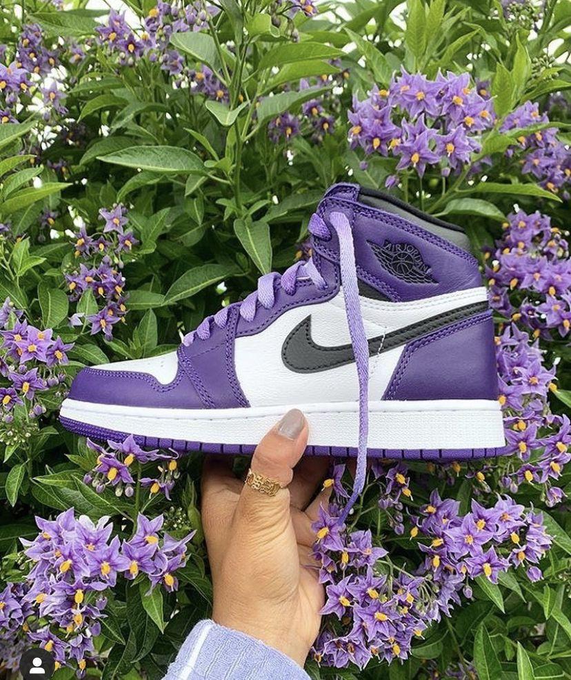 Jordan 1 purple | Purple nike shoes, Jordan 1 court purple, Air ...