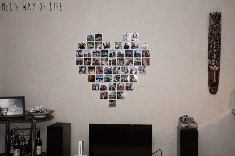 Ordinaire Coeur Photo Mur #3: Déco Murale En Forme De Coeur Avec Développements Photo Carrés !
