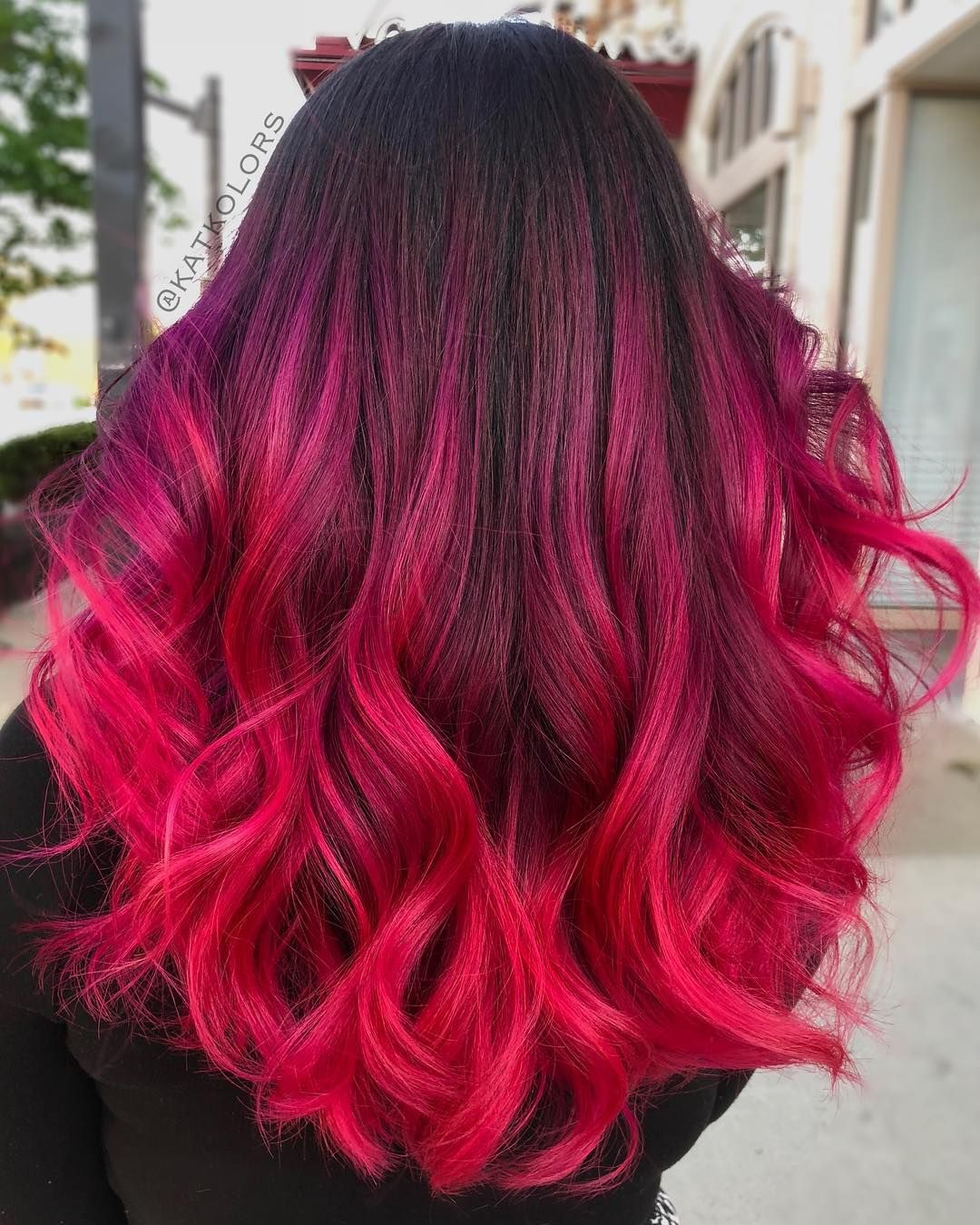 1 761 Likes 28 Comments Hair Makeup Kansas City Katkolors On Instagram Ravishing Seems Like A Fitting Word Pink Ombre Hair Hair Styles Ombre Hair