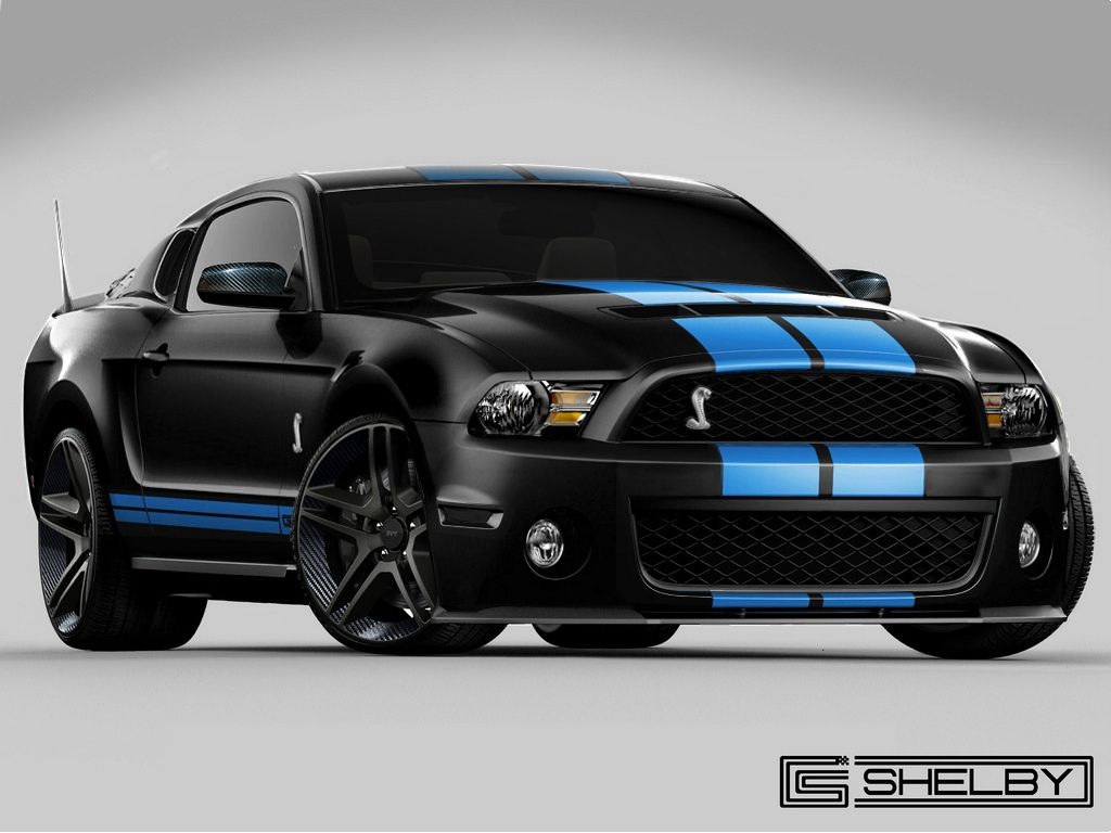 Maybe the color I put on my baby Shelby GT500 Black With Blue