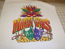MARDI GRAS BEADS  CARNIVAL NEW ORLEANS QUILT SQUARES PILLOW FABRIC PANELS 14X14