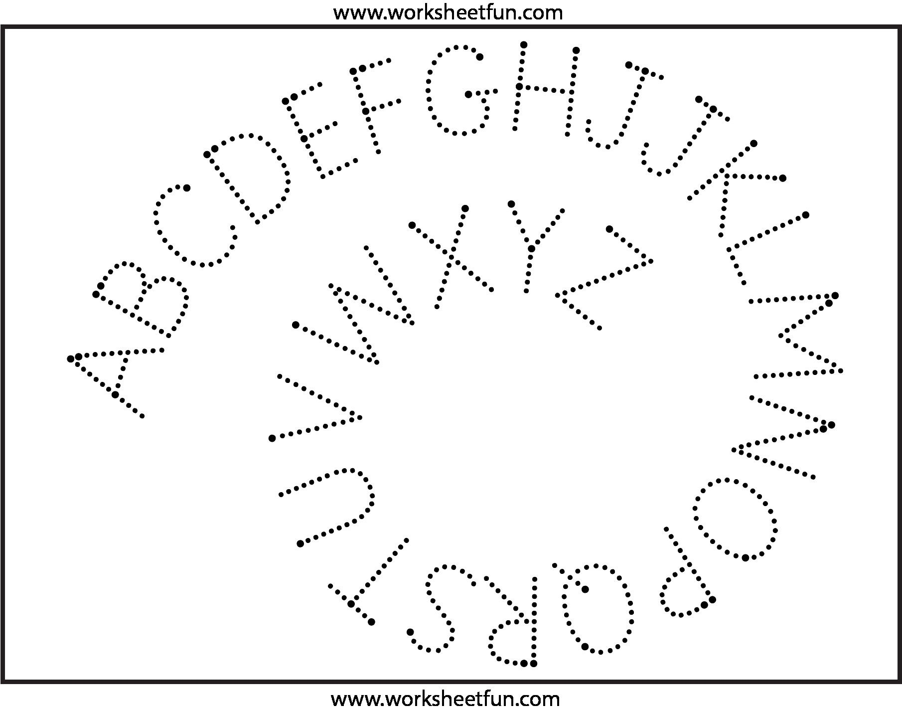 5 Printable Letter Tracing 2 Worksheets In