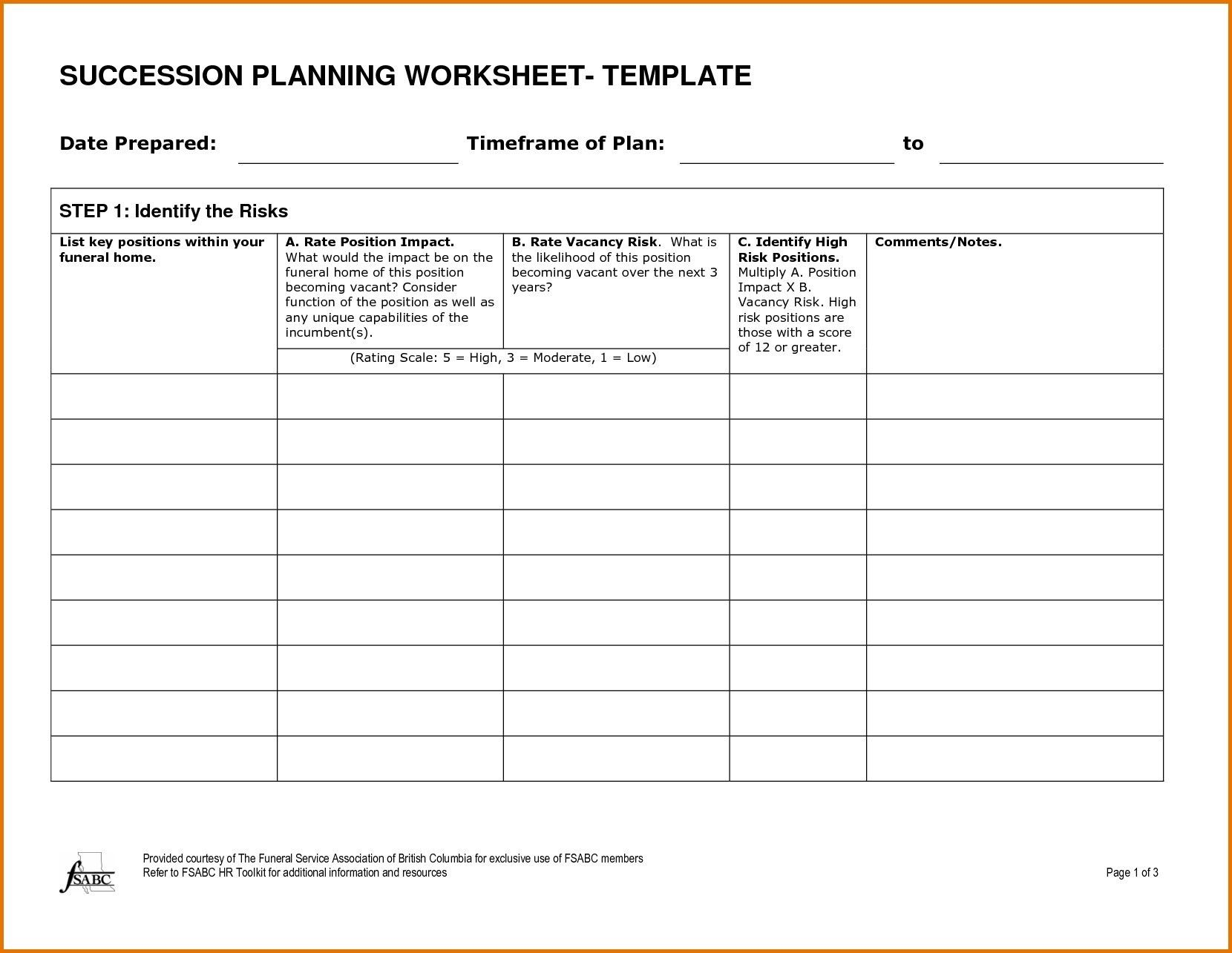 New Family Business Succession Planning Template
