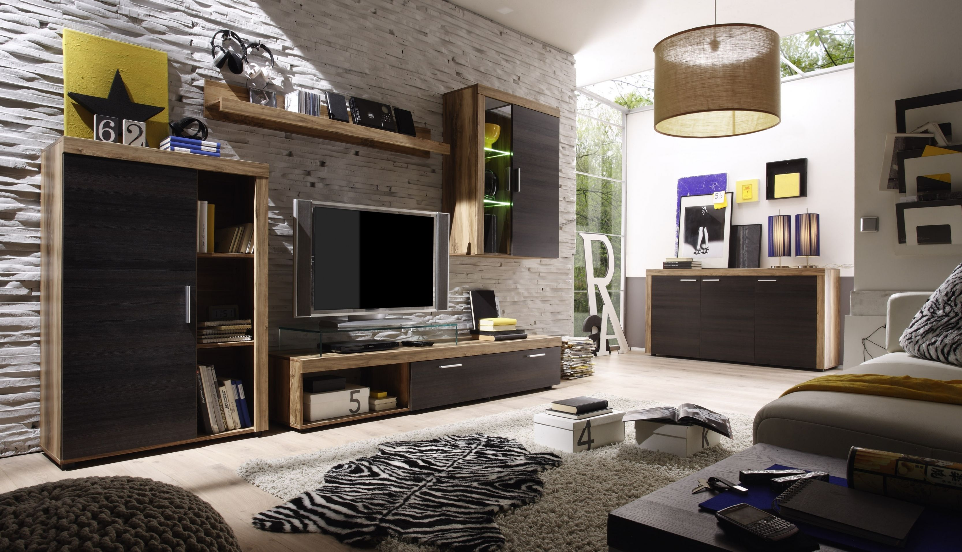 Stilvoll Wohnzimmermöbel Nussbaum Wohnzimmer deko Pinterest