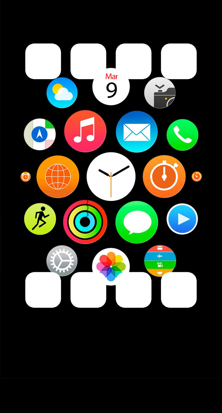 » Like Apple Watch Black Shelfwallpaper.sc iPhone6 アップルの