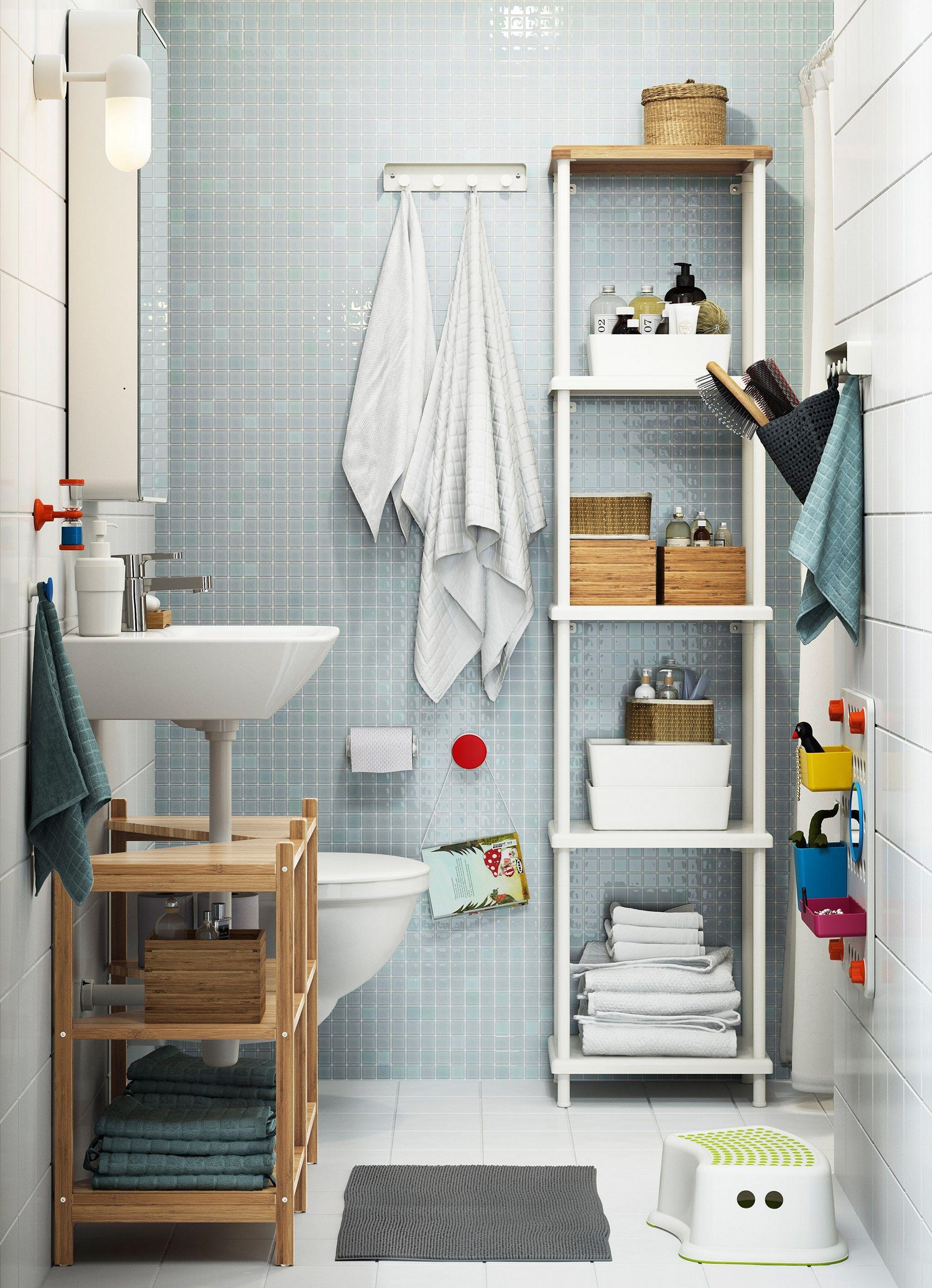 23 Awesome Space Shelving For Tiny Bathroom Decoration Ideas Small Bathroom Storage Ikea Bathroom Bathroom Decor