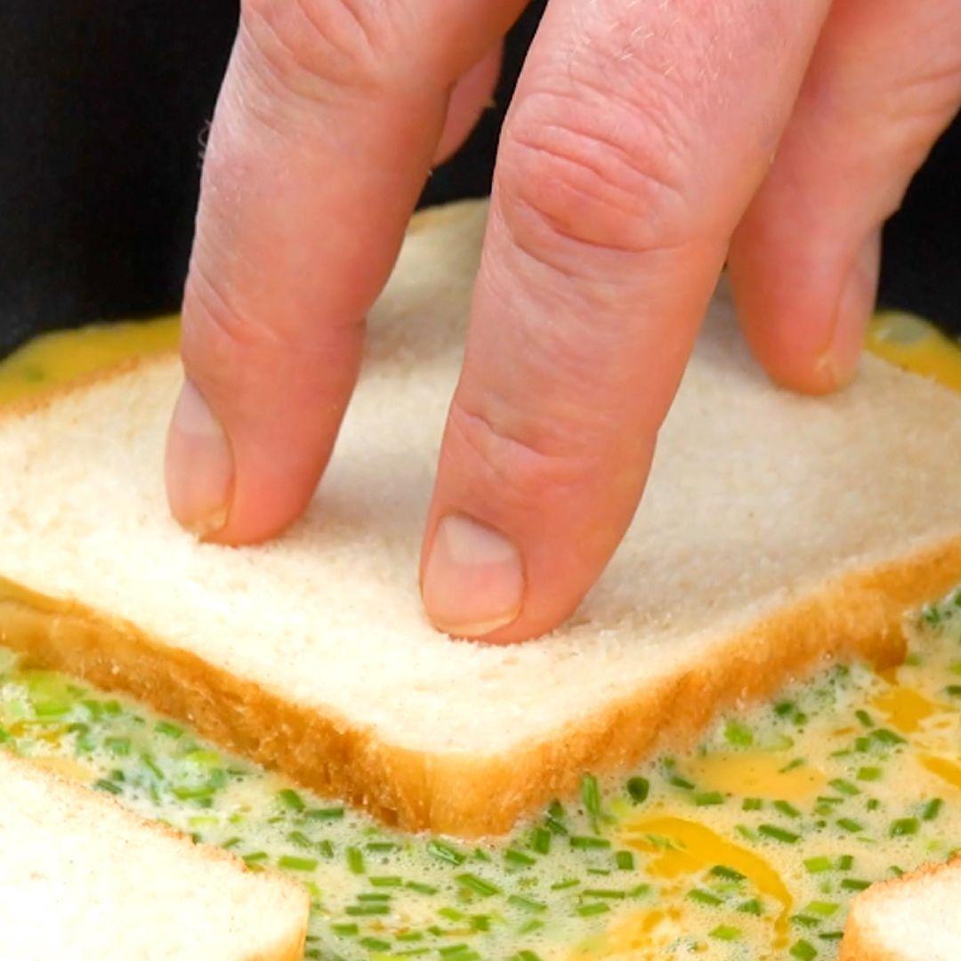 Rezepte-Fusion aus Omelett und Sandwich Rezepte-Fu