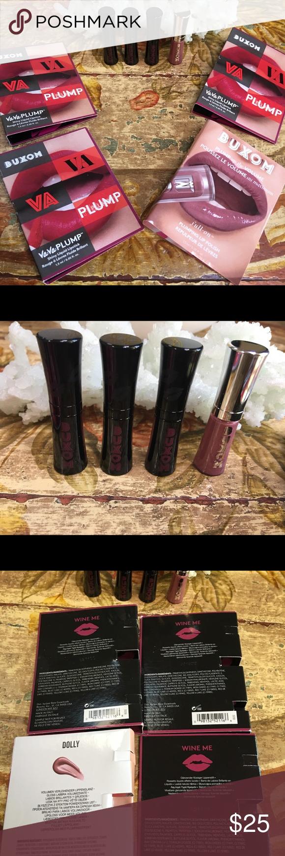 Buxom Va-Va-Plump Shiny Liquid Lipsticks Review - Kindly