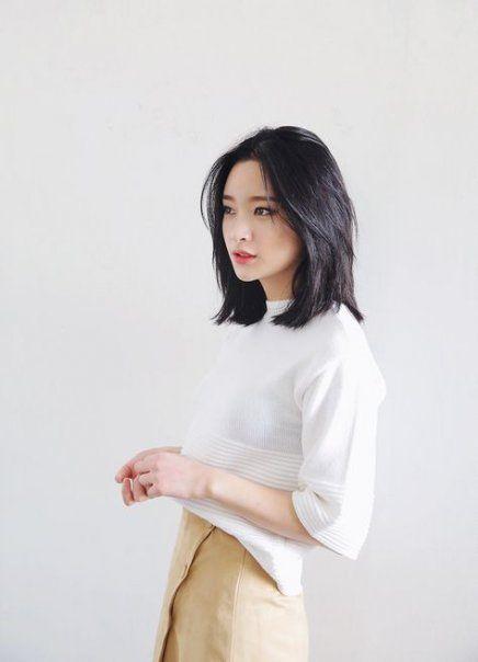 I migliori stili di capelli per capelli di media lunghezza asiatici per le donne 43+ idee