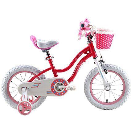 Amazon Com Royalbaby Stargirl Girl 39 S Bike With Training Wheels And Basket Perfect Gift For Kids 16 Inch Wheels Blu Bikes Girls Kids Bike Sizes Bicycle