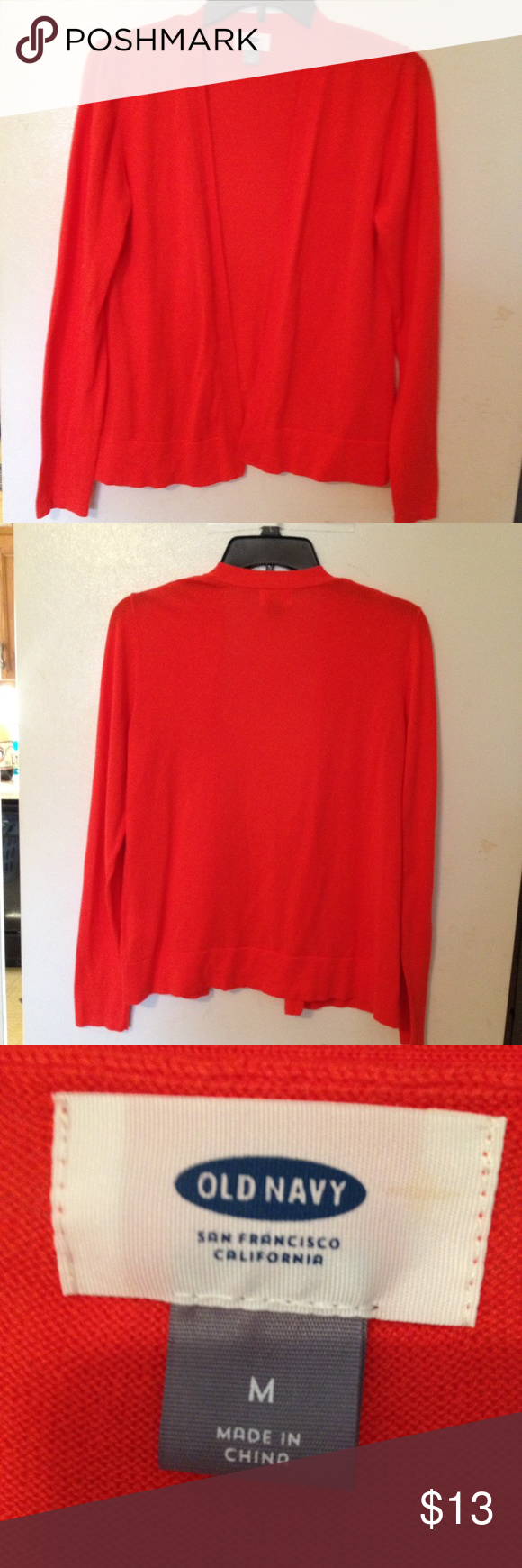 Old Navy Orange cardigan size M | Orange cardigan, Navy sweaters ...