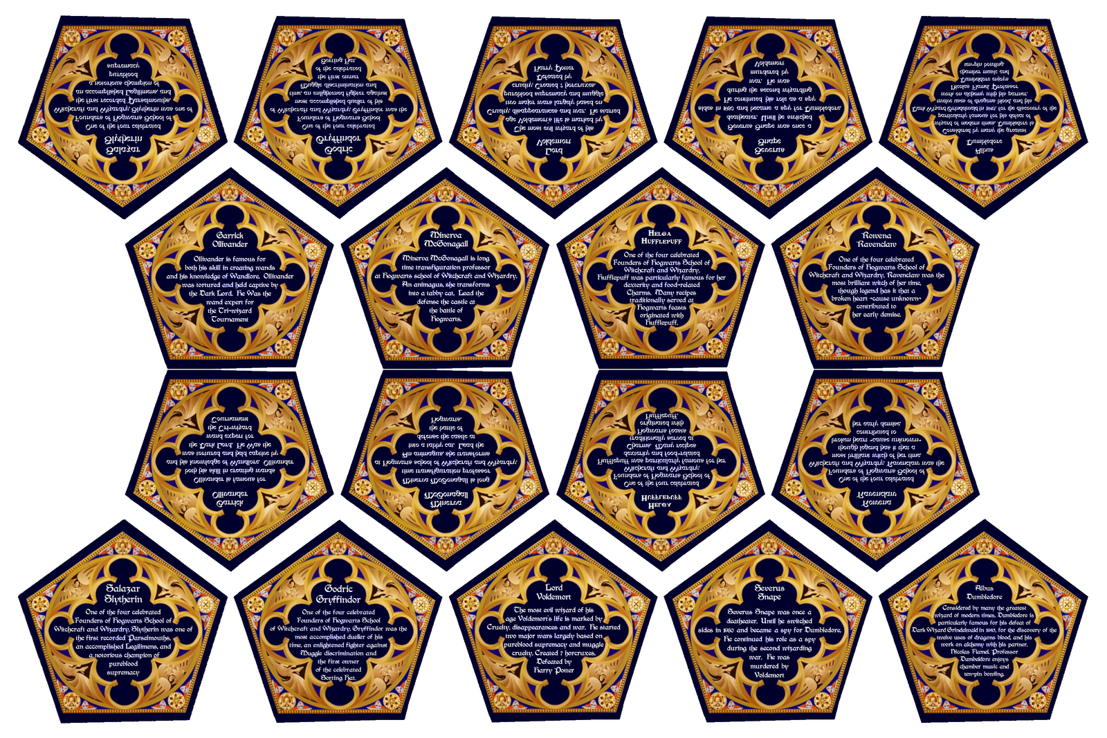 Amazing Hp Blog Has Great Chocolate Frog Cards And Template And