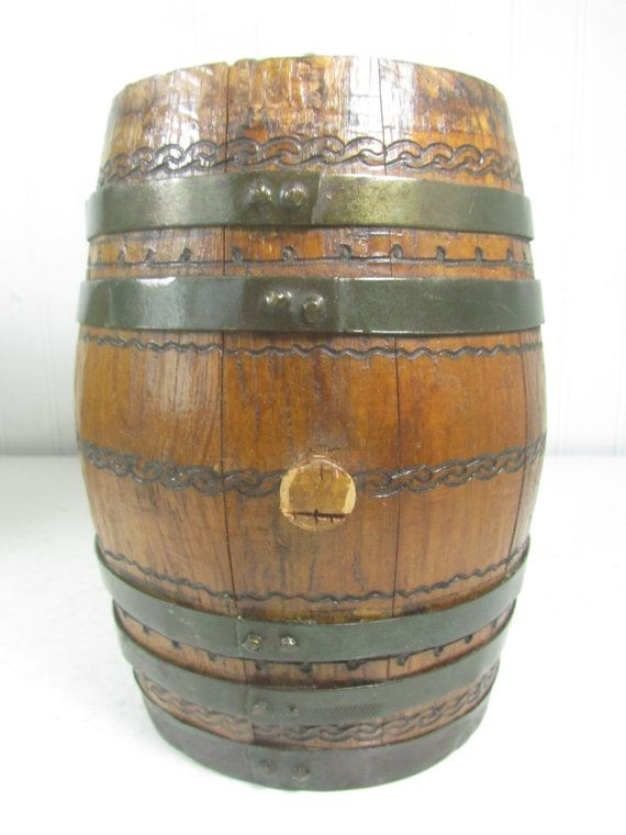 Wine Barrel Small Wood Barrel Wood Keg By Karenschicnshabby Rustic