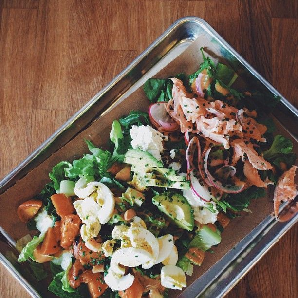 grilled peach trout Cobb salad