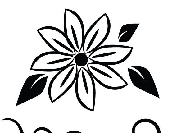 Svg Flowers Digital Clipart Images Floral Graphics Printable