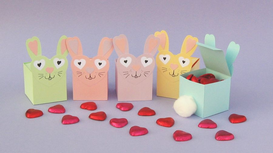 Pastel coloured bunny shaped gift boxes with chocolate hearts pastel coloured bunny shaped gift boxes with chocolate hearts bunny gift box tesco living negle Image collections