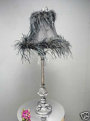 Black feather boudoir vintage chic bedside table lamp ebay black feather boudoir vintage chic bedside table lamp ebay aloadofball Image collections