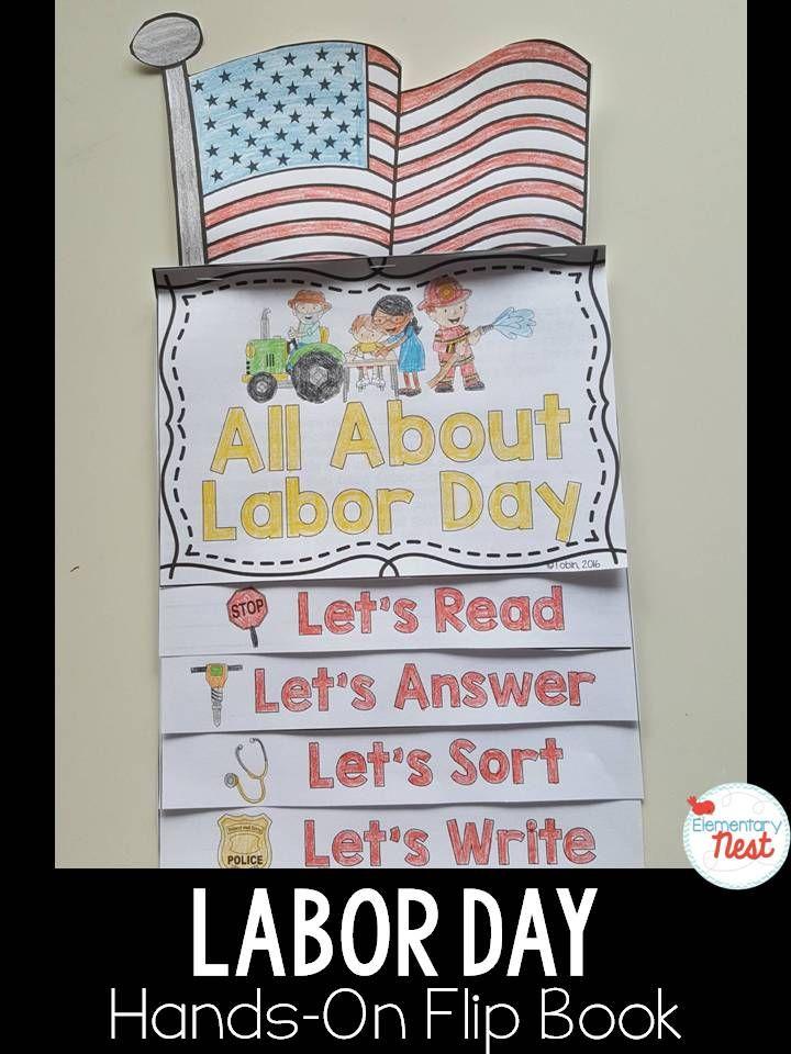 Labor Day Flip Book #labordaycraftsforkids