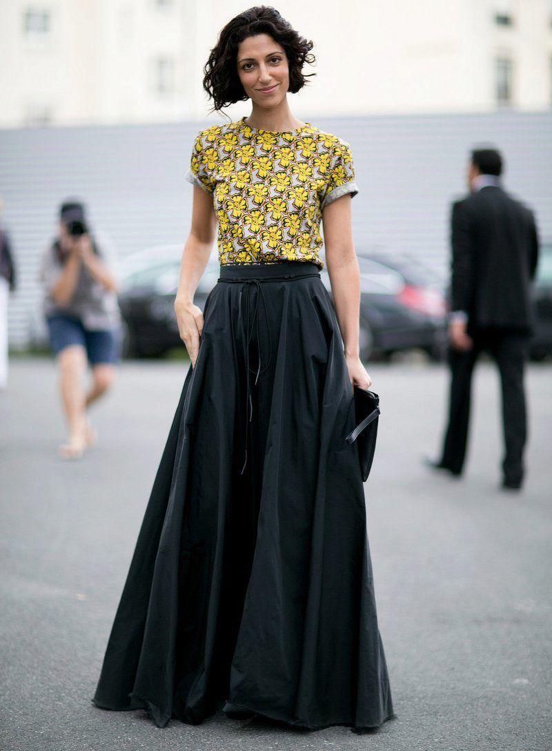 fdf075191e8 Длинная юбка солнце в пол черного цвета | Yasmin Sewell в 2019 г ...