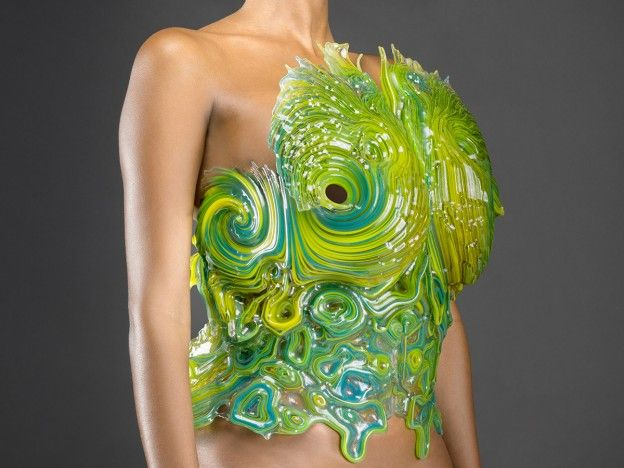 3D printed 'SpaceSuit' http://fashionlab.3ds.com/3d-printed-outerspace-collection/