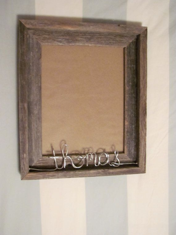 Personalized 8x10 Natural Reclaimed Wooden Picture Frame On Etsy 30 00 Gifts Wooden Picture Frames Frame Picture Frames