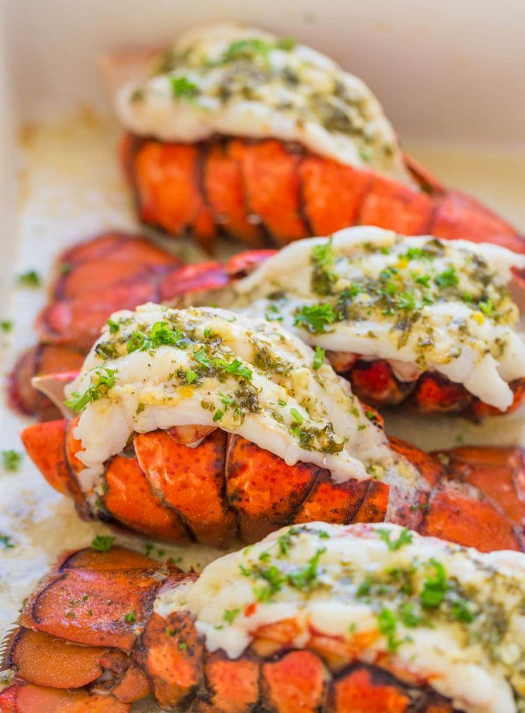 Keto Lobster Tails Recipe with Garlic Lemon Butter