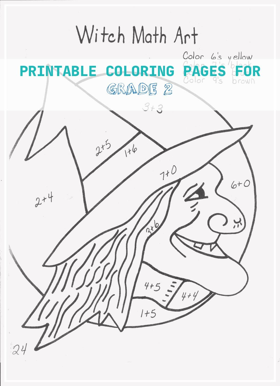 17 Printable Coloring Pages For Grade 2 In
