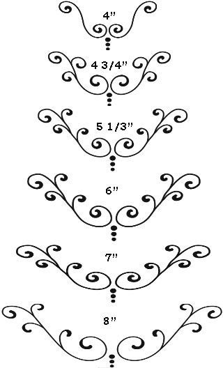 Cake Scroll Design Pattern | Arabescos / Desenhos | Pinterest ...
