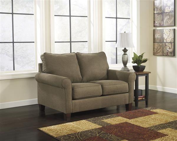 Zeth Contemporary Basil Fabric Twin Sofa Sleeper Twin