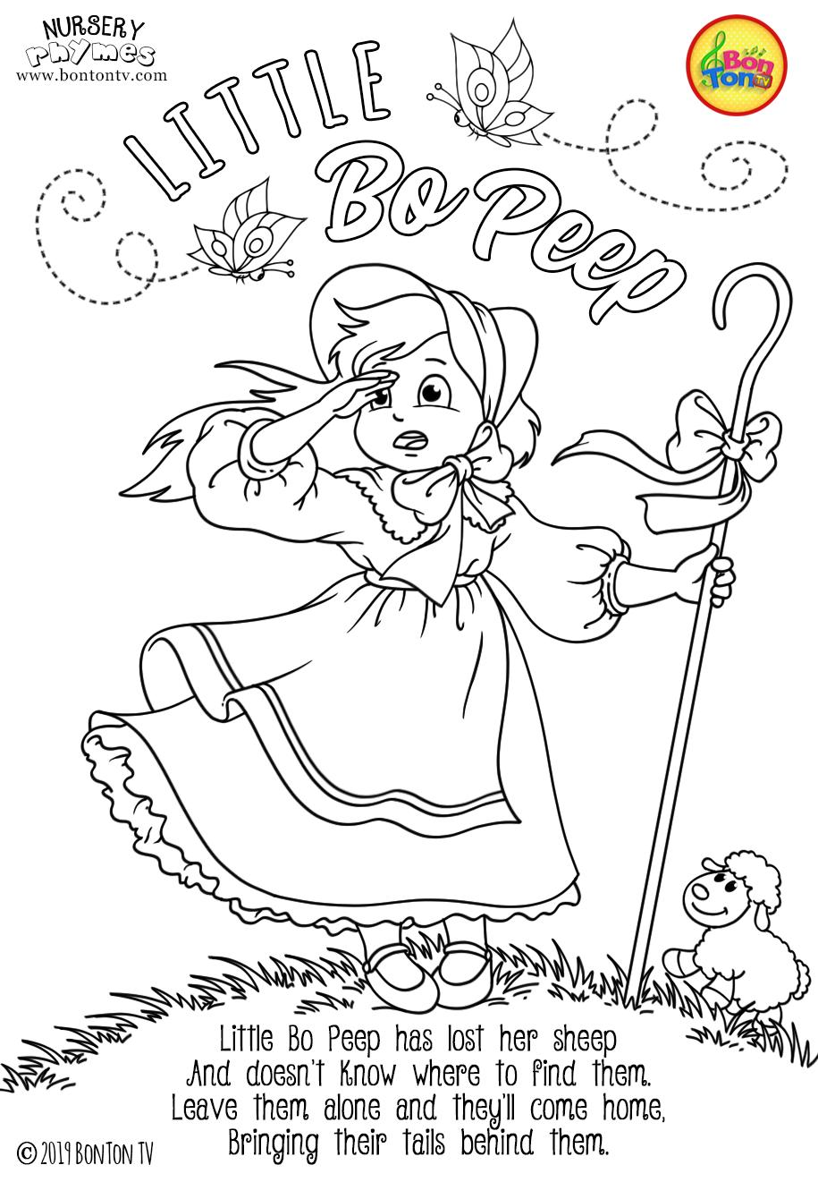Nursery Rhymes Coloring Pages Free Preschool Printables For Kids Little Bo Peep Twinkle Nursery Rhymes Activities Nursery Rhymes Nursery Rhymes Preschool