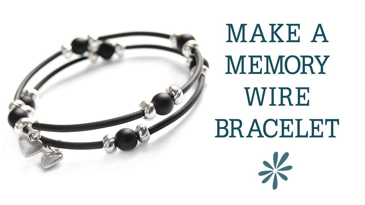 Video Tutorial: Bracelet- Memory Wire w. Tubing from Crafty Owl Café ...